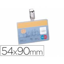 Identificador con pinza marca Durable horizontal