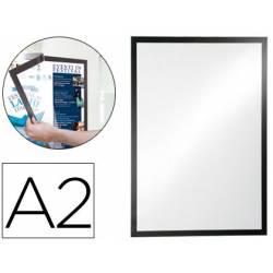 Porta anuncios DURABLE magnetico adhesivo DIN A2 negro