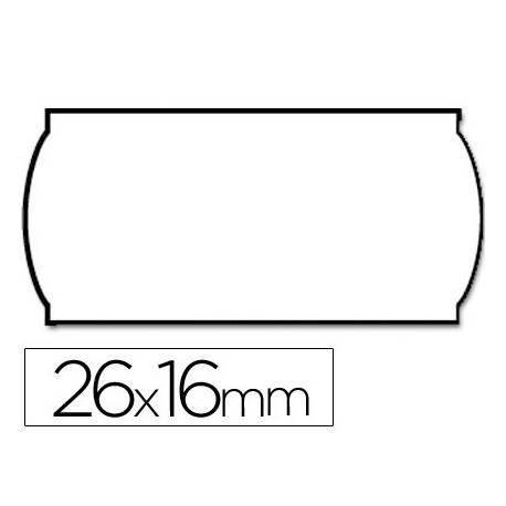 Etiquetas marca Meto onduladas 26 x 16 mm rollo de 1200 etiquetas