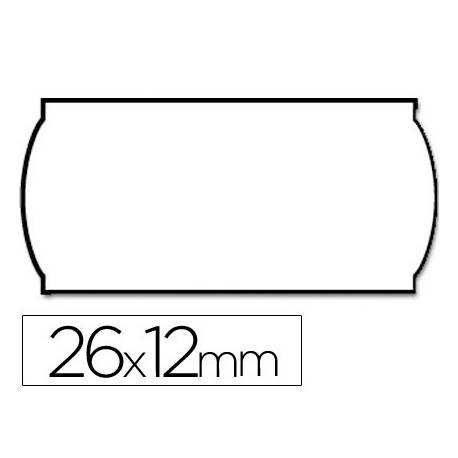 Etiquetas marca Meto onduladas 26 x 12 mm rollo de 1500 etiquetas