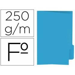 Subcarpeta cartulina color azul con pestaña derecha