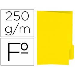 Subcarpeta cartulina color amarillo con pestaña derecha tamaño folio
