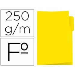 Subcarpeta cartulina color amarillo con pestaña izquierda