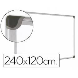Pizarra Blanca Vitrificada Magnetica con marco de aluminio 240x120 Bi-Office