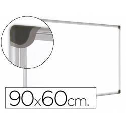 Pizarra Blanca Vitrificada Magnetica con marco de aluminio 90x60 Bi-Office