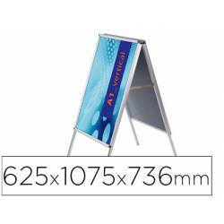 Caballete marca Jansen Display aluminio A1 doble cara