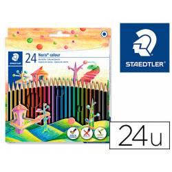 Lapices de 24 colores marca Staedtler Wopex ecologico