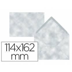 Sobre marca Liderpapel c6 azul pergamino 114x162mm