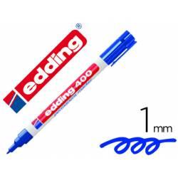 Rotulador Permanente Edding 400 Color Azul Punta Fina