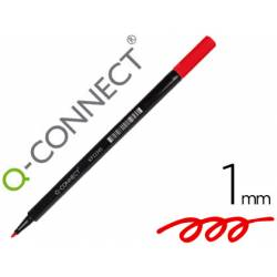 Rotulador Q-Connect punta de fibra redonda 1mm color rojo