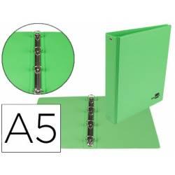 Carpeta 4 Anillas Liderpapel A5 Color Verde 25 mm