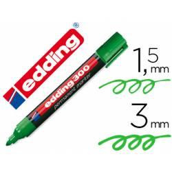 Rotulador Permanente Edding 300 Color Verde Punta Redonda