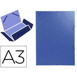 Carpeta de gomas Exacompta Din A3 azul