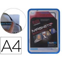 Marco Tarifold Din A4 magnetico color azul pack de 2