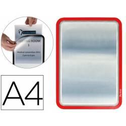 Marco Tarifold Din A4 adhesivo color rojo pack de 2