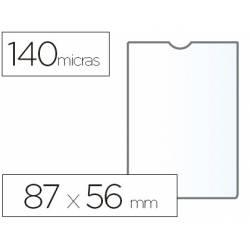 Funda portadocumento marca Esselte plastico cristal 87 x 56 mm