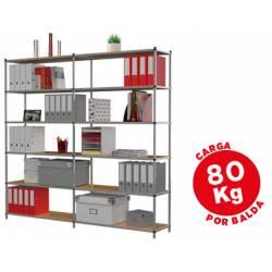 Estanteria marca Paperflow metalica 6 estantes modulo adicional