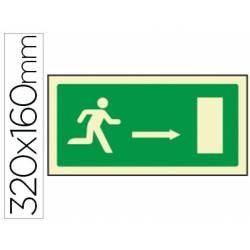 Señal marca Syssa salida emergencia flecha derecha