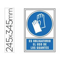 Señal marca Syssa obligatorio uso guantes