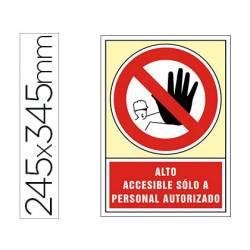 Señal marca Syssa prohibido el paso solo personal autorizado