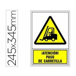 Señal marca Syssa paso carretilla