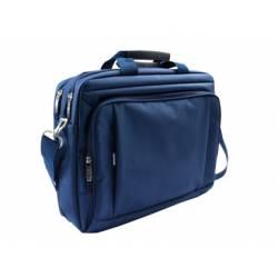 "Maletin para portatil 15,5"" Q-Connect color azul 1 bolsillo"