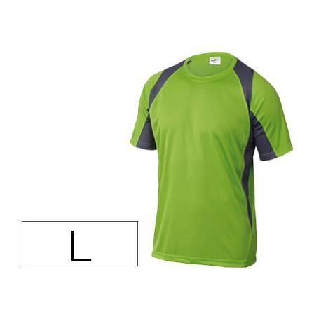 Camiseta manga corta DeltaPlus color verde talla L