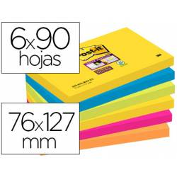 Pack de blocs Post-it ® 76 x 127 mm