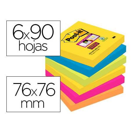 Pack de blocs Post-it ® 76 x 76 mm encelofanados