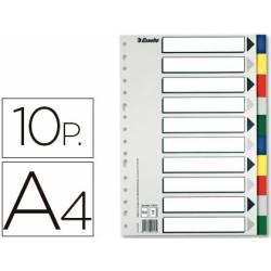 Separadores plastico Esselte Din A4 juego de 10 colores