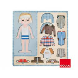 Puzzle a partir de 3 años Vestir niño Goula