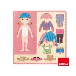 Puzzle a partir de 3 años Vestir niña Goula