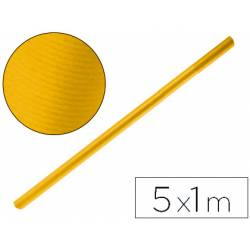 Bobina papel tipo kraft Liderpapel 5 x 1 m amarillo oro