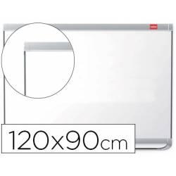 Pizarra Blanca Lacada Magnetica con marco de aluminio 120x90 Nobo