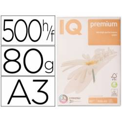 Papel multifuncion A3 IQ Premium 80g/m2 Blanco