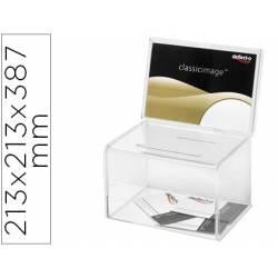 Buzon de sugerencias marca Archivo 2000 color cristal transparente