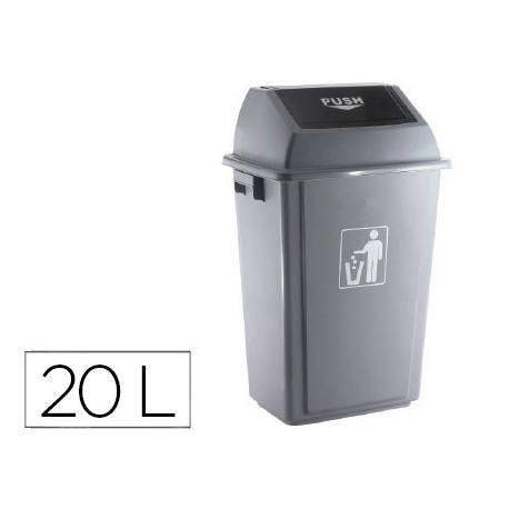 Papelera Q-Connect plastico de 20 litros