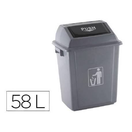 Papelera Q-Connect plastico de 58 litros