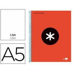Bloc Antartik A5 Liso tapa Forrada 100g/m2 Rojo 5 bandas color