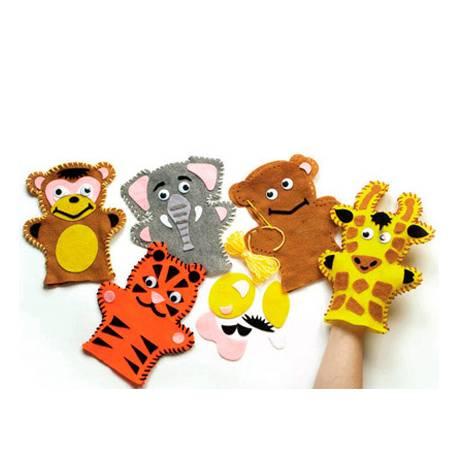 Conjunto de costura Marionetas Animales de la Selva 4 unidades surtidas