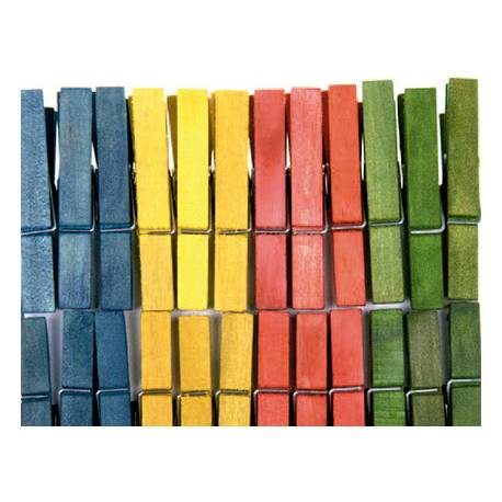Pinza de madera colores surtidos itKrea