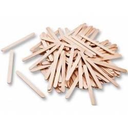 Palillos de madera natural 75x7 mm itKrea