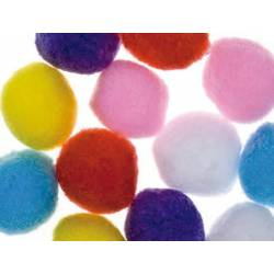Pompones 50 mm Colores Surtidos itKrea
