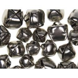 Cascabeles metalicos Plata Tamaños surtidos itKrea