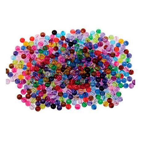 Cuentas de plástico Redondas 6 mm Colores surtidos itKrea