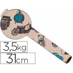 Bobina papel tipo kraft Impresma 31 cm 3,5 kg havana 4337