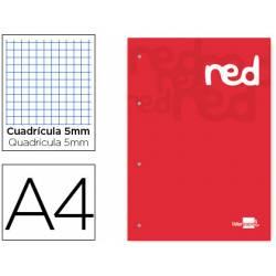 Bloc recambio encolado Liderpapel din A4 red