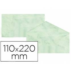 Sobre marmoleado Michel fantasia color verde 25 sobres
