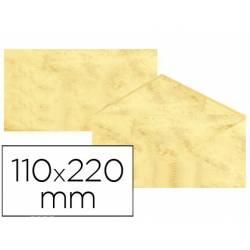 Sobre marmoleado Michel fantasia color amarillo 25 sobres