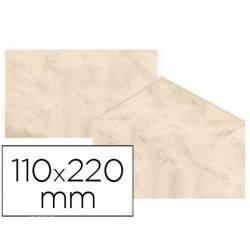 Sobre marmoleado Michel fantasia color beige 25 sobres